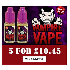 Vampire Vape E Liquids Mix and Match