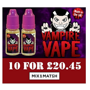 Vampire Vape Mixed Flavours - 10x